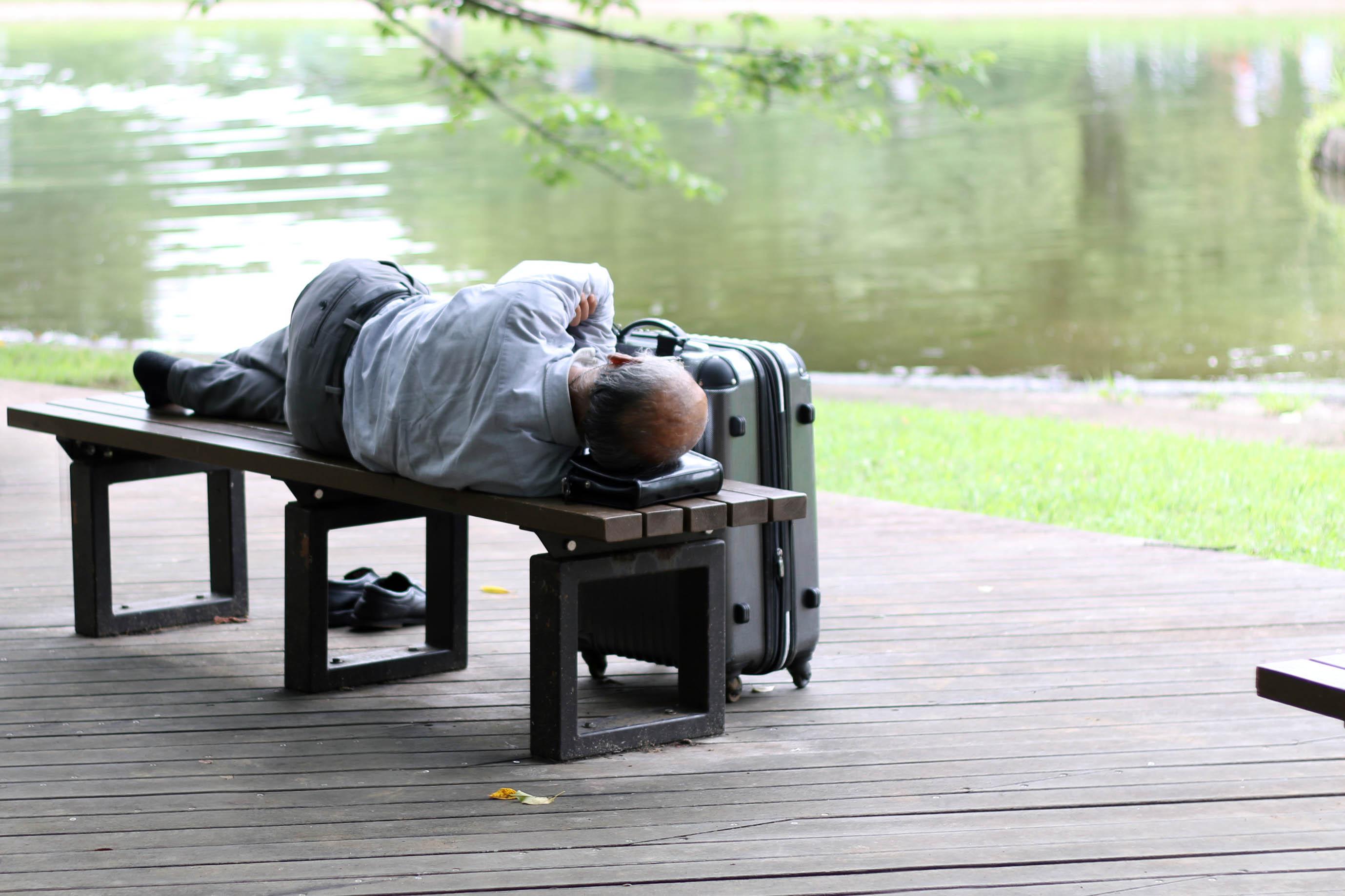 Tokyo - man in park