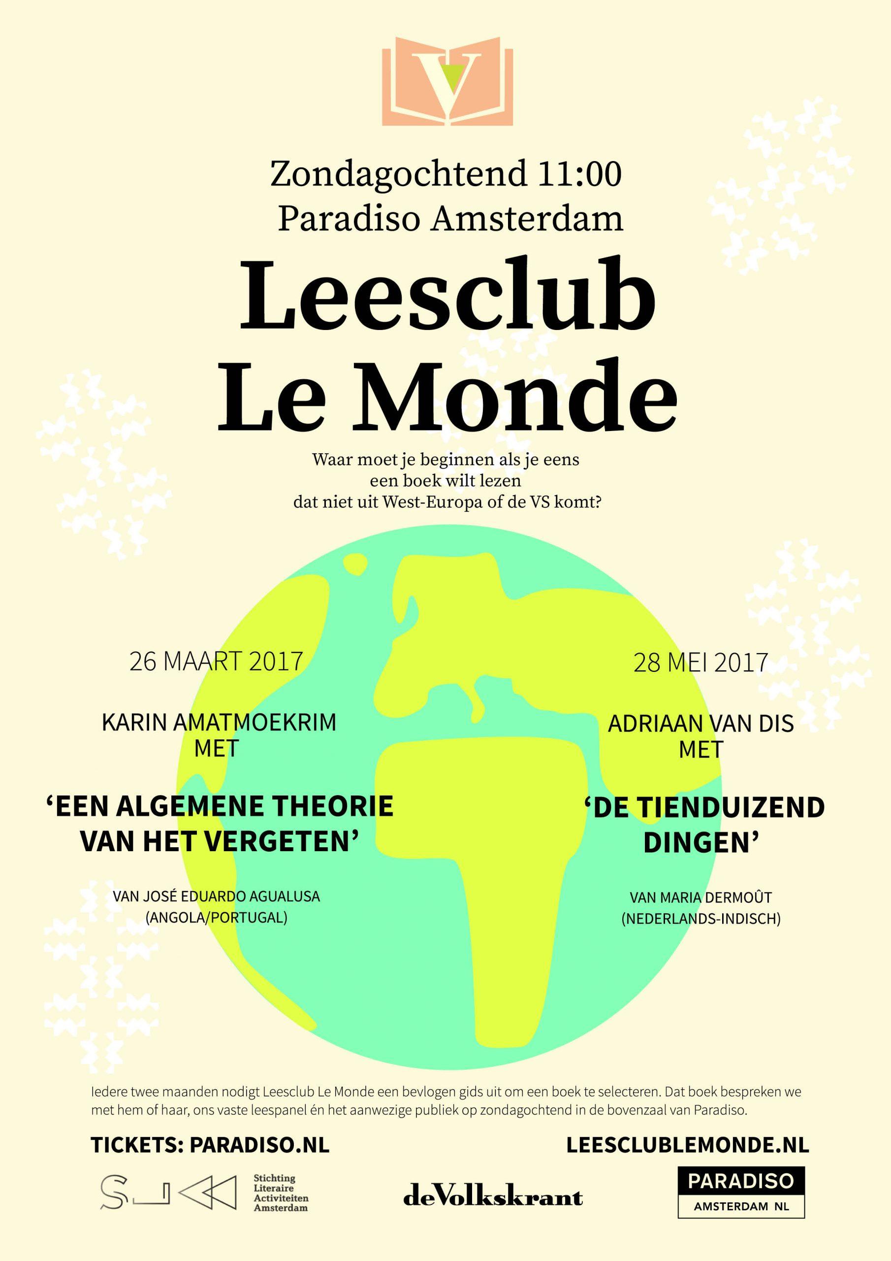 poster voor leesclub le monde